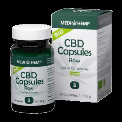 CBD Capsules 5% | Medihemp Raw